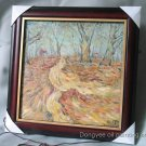 Framed ORIGINAL OIL PAINTING SIGNED BY Du sketched lane