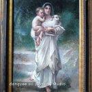 """ART SALE OIL PAINTING Repro Bouguereau figures 24""""x36"""""""
