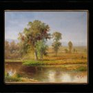 Sketchy Oil Painting Art Quality Landscape Rivulet