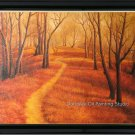 ART SALE LANDSCAPE-OIL ON LINEN CANVAS-a woods path-48""