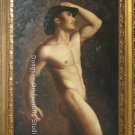 Male Nude Art Original Oil Painting Handsome Guy Torso