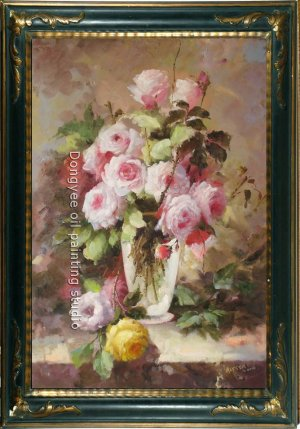 ART SALE OIL PAINTING PAINTING FLOWER STILL LIFE SIGNED