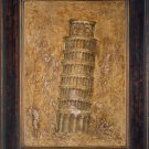 Looks as antique oil painting-Building-Pisa Campanile