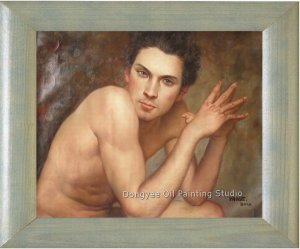 MALE NUDE ORIGINAL OIL PAINTING ON SALE Handsome Guy
