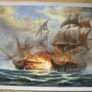 ART SALE OIL PAINTING SIGNED SEASCAPE a naval battle