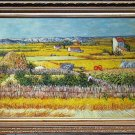 ART OIL PAINTING repro of VAN GOGH harvest landscape