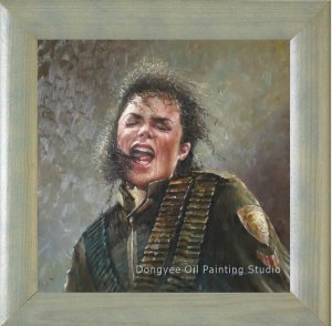 ART ORIGINAL OIL PAINTING FROM PHOTO Michael Jackson