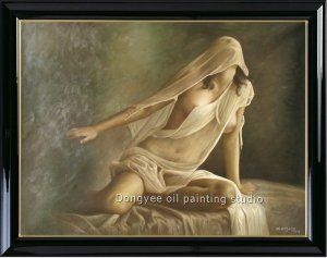 ART SALE ORIGINAL OIL ON CANVAS NUDE MODEL IN STUDIO