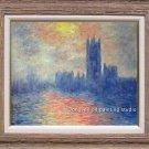 ART SALE OIL PAINTING repro of Monet Sunrise-LANDSCAPE