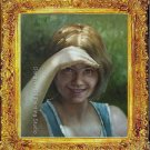 ART ORIGINAL OIL ON CANVAS PRETTY RUSSIAN Sunny girl