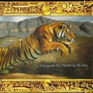 SALE handmade OIL ON CANVAS A tiger stalks his prey-NR
