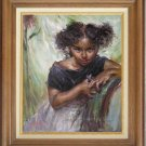 Oil painting Repro Daniel F.Gerhartz-Spark Of Mischief