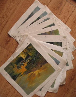 Wholesale lots of 9 oil paintings-Landscape-seascape