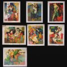 Wholesale lots of 7 oil paintings-abstract art figures