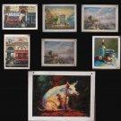 Wholesale lots of 7 oil paintings-landscape-31x41cm