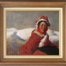 ART SALE OIL PAINTING SIGNED TIBETAN GIRL PORTRAIT