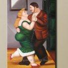 ART DECO Fernando Botero Dancers Modren OIL PAINTING
