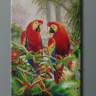 quality oil painting Art sale 61x91cm-Animal-Parrots