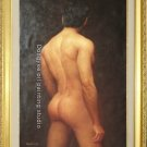 Oil Painting Art Guy Torso Back Modern Boy Male Nude