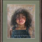ART SALE ORIGINAL OIL PAINTING CHILDREN MECICAN GIRL-NR