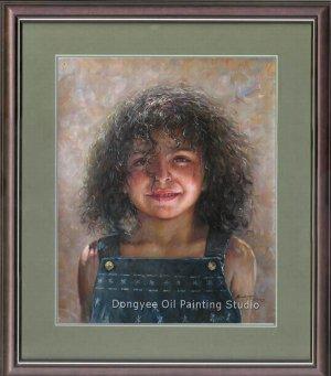 ART SALE ORIGINAL OIL PAINTING CHILDREN MECICAN GIRL-NR