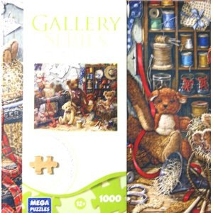 GALLERY SERIES AUTHENTIC WOOD PUZZLE TEDDY BEAR WORK SHOPPE 1000 PIECE PUZZLE