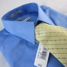 NEW GEOFFREY BEENE Mens Dress Shirt + Silk Tie Wrinkle Free M 15  34/35 Sateen
