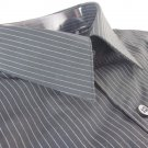 NEW VIA EUROPA DRESS SHIRT  M 15 32/33 Black Wrinkle Resistant  NWT