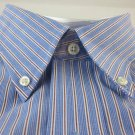 NEW CLUB ROOM DRESS SHIRT M 15.5 34/35 Blue Red Stripe Cotton Easy Care NWT