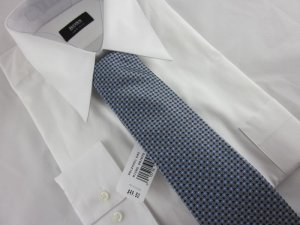 NEW PERRY ELLIS Portfolio MENS TIE Silk Gray Blue NWT