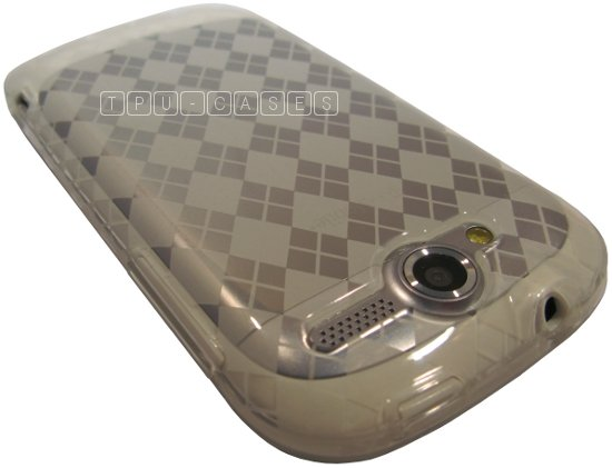 HTC MyTouch 4G Clear & White Argyle FlexiSkin TPU Case