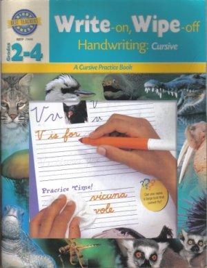 RBTP Write-on Wipe-off - Handwriting: Cursive - A Cursive Practice Book - Rigby Best Teachers Press