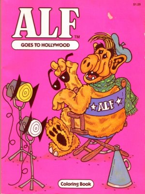 Alf Goes To Hollywood Coloring Book by Roxanne Ruth-Stephens has not been colored in 1987 VINTAGE