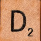 "Scrabble Letter Wood/Wooden Tile ""D"" for replacement or crafts like jewelry or decorations"