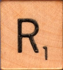 Scrabble Letter Wood/Wooden Tile &quot;R&quot; for replacement or crafts like jewelry or decorations