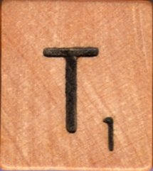 """Scrabble Letter Wood/Wooden Tile """"T"""" for replacement or crafts like jewelry or decorations"""