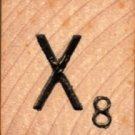 """Scrabble Letter Wood/Wooden Tile """"X"""" for replacement or crafts like jewelry or decorations"""