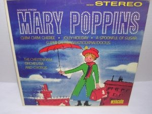 Mary Poppins Songs from the Movie Cheltenham Orchestra and Chorus LP Record 33� VINTAGE 1964