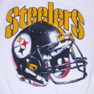 Pittsburgh Steelers White Sweatshirt Men Lg Riddell Helmet NFL Football VTG NEW FREE S&H in USA