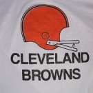 Cleveland Browns Football T-shirt/Tee White SS Made in USA Men Large Vintage NEW FREE S&H in USA