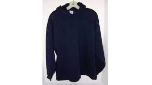 Navy Blue Sweatshirt Hoodie Adult/Teen Hoody/Hooded BW Bassett Walker~Made in USA Cotton Blend NEW