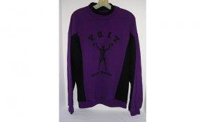 VOIT Cross Training Sweatshirt Men Purple Weight Lifter Logo Cotton NEW/NWT VINTAGE