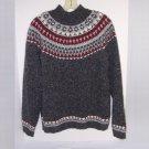 Croft & Barrow Ski Sweater Adult Large Molted Dark Gray/Grey  Acrylic/Cotton/Wool Blend EUC