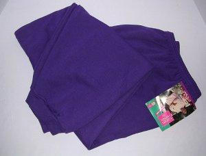 Hanes Her Way Sweatpants Purple Women 4X Full Figure 30W/44-32W/46 Cotton Blend Big Woman NEW NWT
