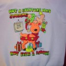 Christmas Moose White Sweatshirt Adult/Teen Small ALBS Love UNL'D VINTAGE NEW reindeer holiday