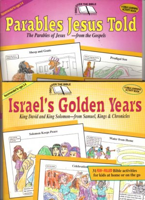 2) Discover The Bible Activity Learning Books: Parables Jesus Told & Israel's Golden Years