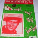 Thirty Two Feet and Eight Little Tails Sheet Music Gene Autry Santa Reindeer