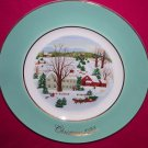 Avon Christmas Plate 1973-Christmas On The Farm-9 inch Vintage Excellent Condition