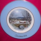 Avon Christmas Plate 1979-Dashing Through The Snow-9 inch Vintage Excellent Condition