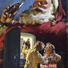 Coca Cola Christmas Santa 1950 National Geographic advertisement Vintage Coke